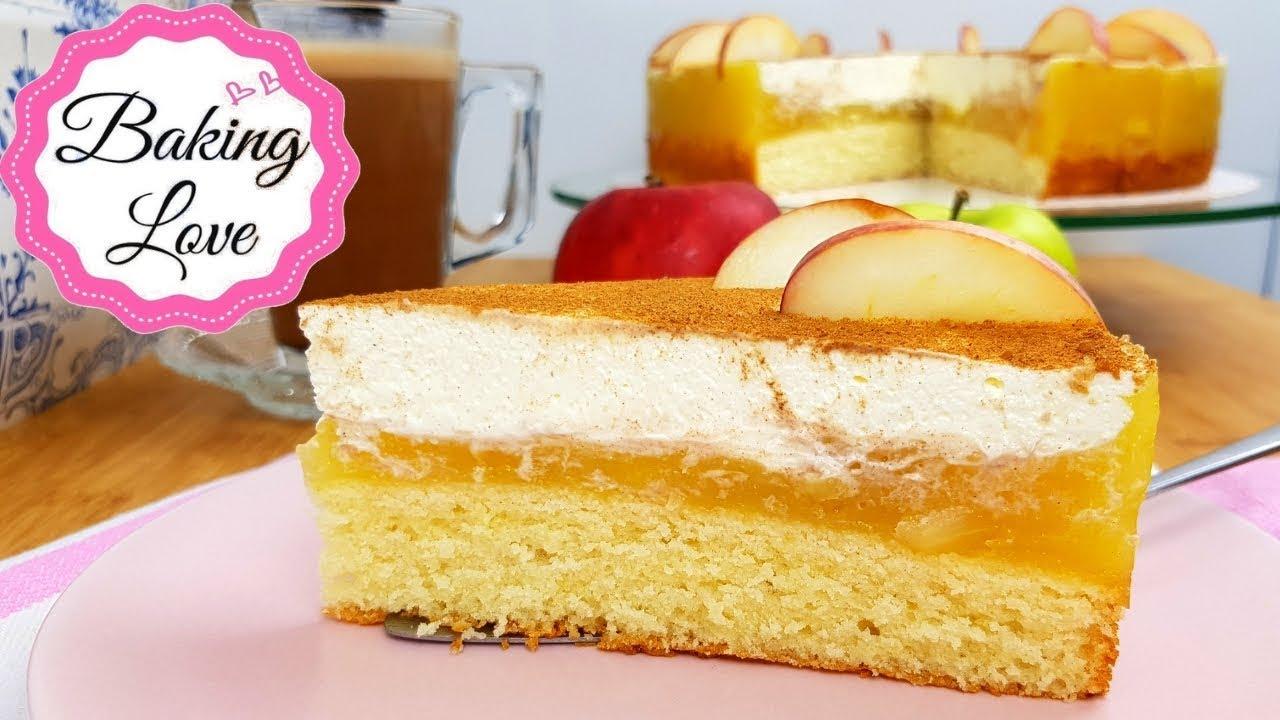 Die Perfekte Sonntagstorte I Himmlisch Leckere Apfel Schmand Torte I