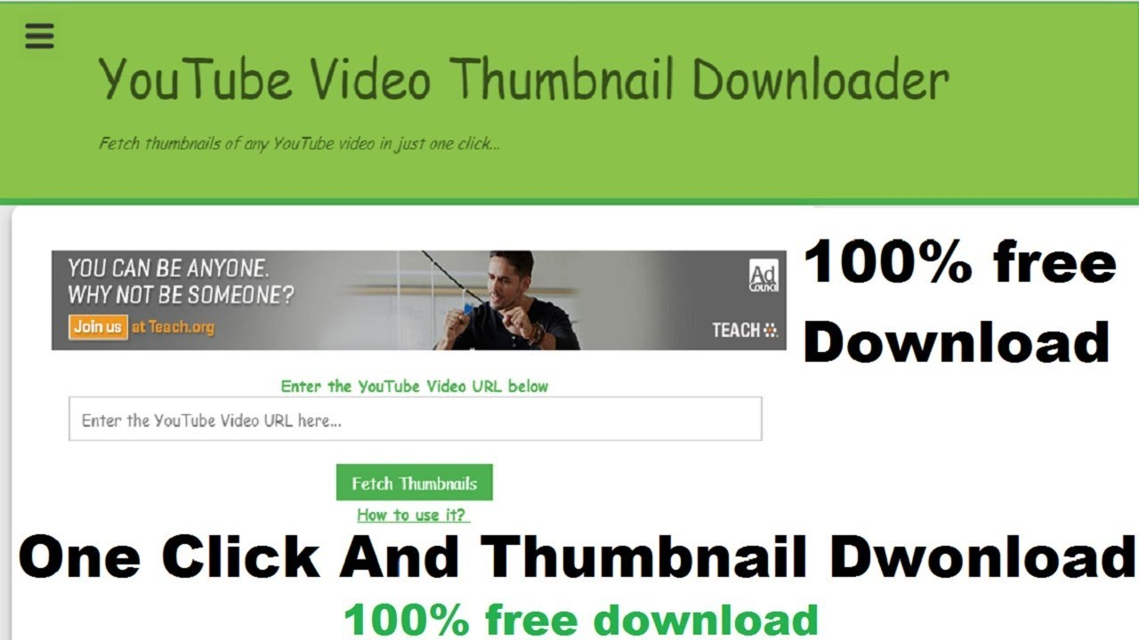 How to download youtube thumbnail 2018 | How to Easily