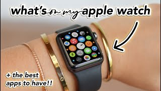 what's on my apple watch + best apps for students (2020)