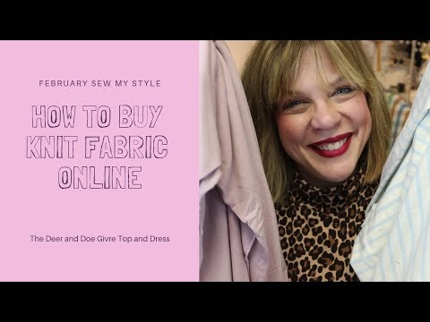 How To Buy Knit Fabric Online For The Deer And Doe Givre T-shirt