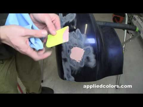 Learn Plastic Bumper Repair Vid 2/5:  Sand & Fill
