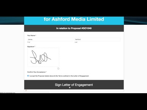 Get Your Letters of Engagement Digitally Signed Fast With GoProposal