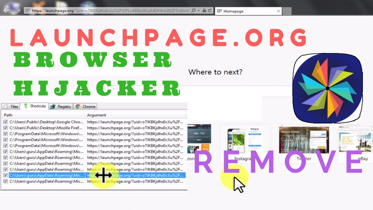 how to delete launchpage org