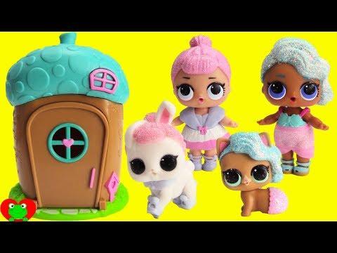LOL Surprise Pets Transform Into LOL Dolls In Woodzeez House