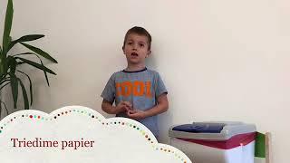 MŠ Montessori Zvolen - Triedime odpad (Zelená škola)