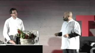 Food Painting: Diego, Carlos and Carlos at TEDxLaRioja