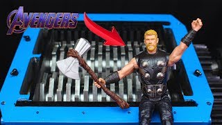 shredding Avengers Endgame Thor And Toys Satisfying