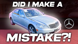 "I BOUGHT A CHEAP STORM DAMAGED MERCEDES S550 WAS IT A MISTAKE? ""LIVE AUCTION AND DELIVERY'' PART #1"