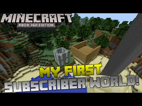 Minecraft Xbox: Looking at MY VERY FIRST SUBSCRIBER WORLD! | 3 Year Throwback!