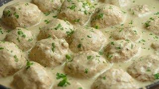 Albondigas de pollo con una salsa que te SORPRENDERÁ
