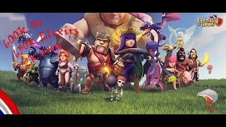 Clash of Clans ~farming ~HDV10 vs HDV10 ~full attaque (golem, valkyries, pekka et reine ) ~HD
