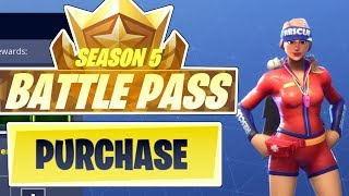 UNLOCKING SEASON 5 BATTLE PASS 100 TIERS !! - Fortnite Bataille Royale