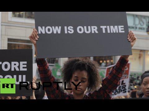 Times Sq shut down, Washington joins protest over Ferguson teen killing