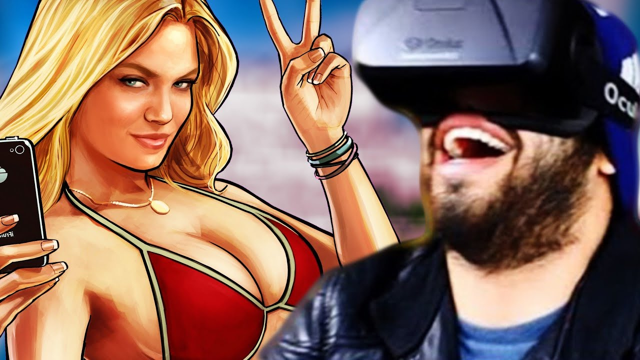 GTA 5 In VIRTUAL REALITY! | Oculus Rift DK2 | Grand Theft Auto V Gameplay Mod!