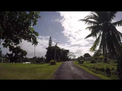 Iles Cook Aitutaki Route vers Arutanga, Gopro / cook islands Road to Arutanga, Gopro