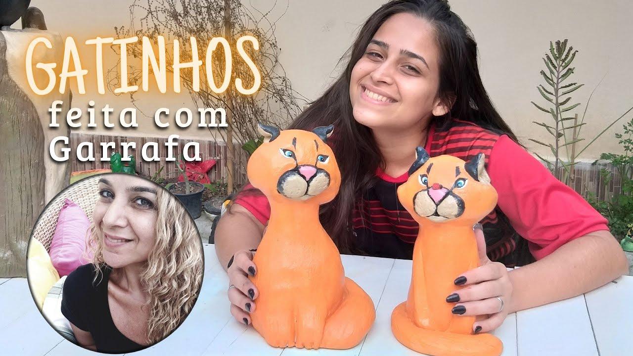 DIY-GATINHOS FEITOS COM GARRAFAS