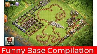 Funny Base Compilation #3 || Clash of Clans ||