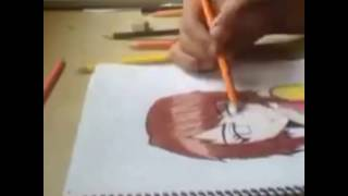 Anime drawing and coloring pencil