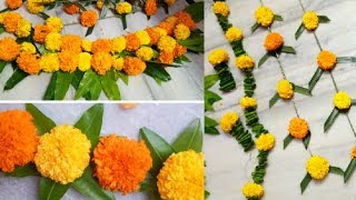 Diy|marigold Flower Decoration Ideas For Any Indian Wedding|sangeet|festivals|pooja|home Parties