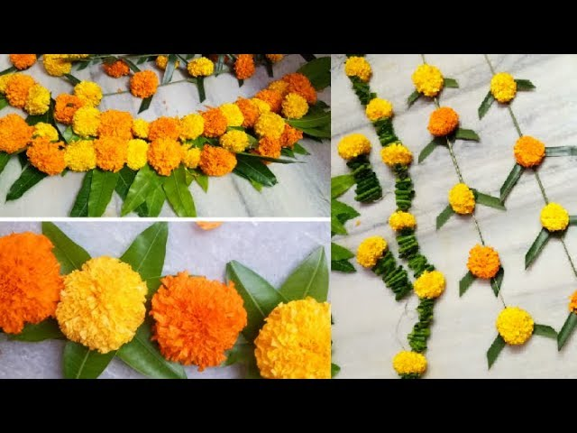 Diy Marigold Flower Decoration Ideas For Any Indian Wedding Sangeet Festivals Pooja Home Party Ideas Youtube