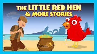 THE LITTLE RED HEN & MORE STORIES   ENGLISH ANIMATED STORIES FOR KIDS   TRADITIONAL STORY   T-SERIES