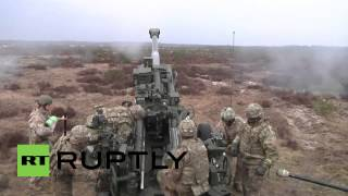 Latvia: NATO troops shoot Howitzers as part of