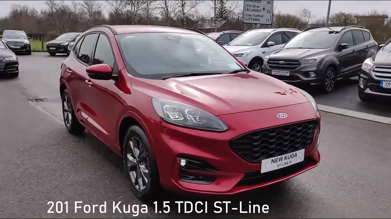 New Ford Kuga 1 5 Tdci St Line Lucid Red Youtube