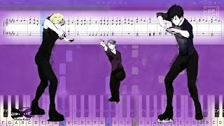 Yuri On Ice ユーリ On ICE Opening History Maker Piano Tutorial Sheets MIDI Synthesia