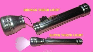How to make old torch light to convert super led torch light