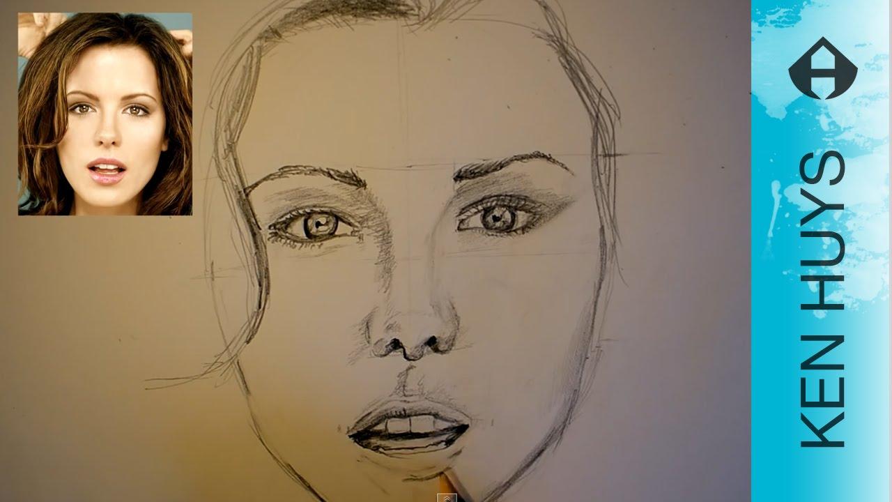 Beste HOE TEKEN JE EEN GEZICHT - DRAWING A FACE ( Kate Beckinsale MB-88