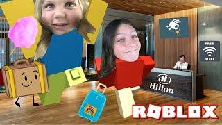 Wait, NO KITCHEN!? Roblox Hilton Hotel | WPFG Family Gaming Lyronyx + Lyla Dyes Her Hair