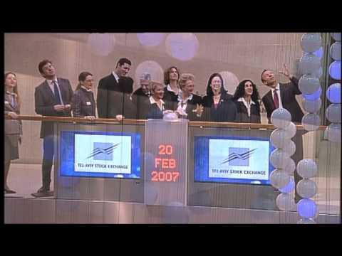 Tel Aviv Stock Exchange Opening Bell In london Stock Exchange - 20.02.2007