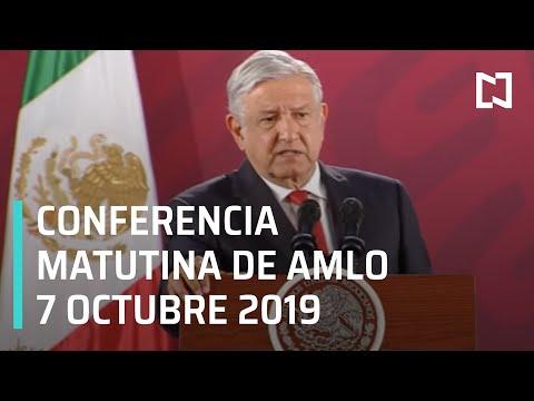 Conferencia matutina de AMLO del lunes 7 de octubre de 2019