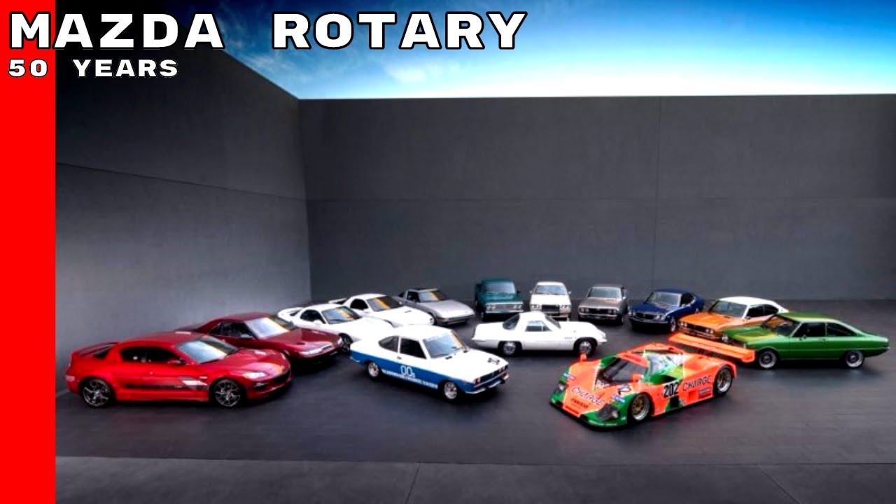 50 Years Of Mazda Rotary Engine Vehicles