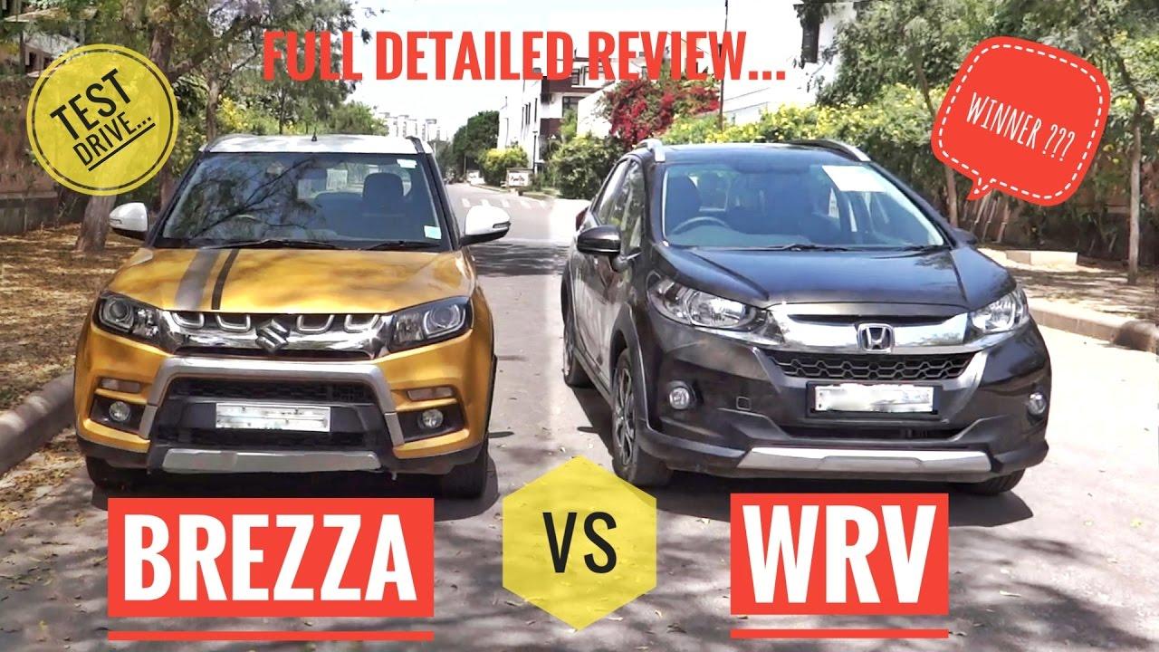 honda wrv  brezza full detailed hindi comparison youtube
