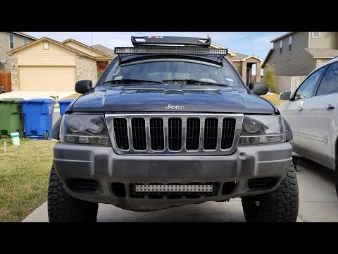 installing light bar with custom brackets on 2002 jeep grand cherokee youtube 2002 jeep grand cherokee