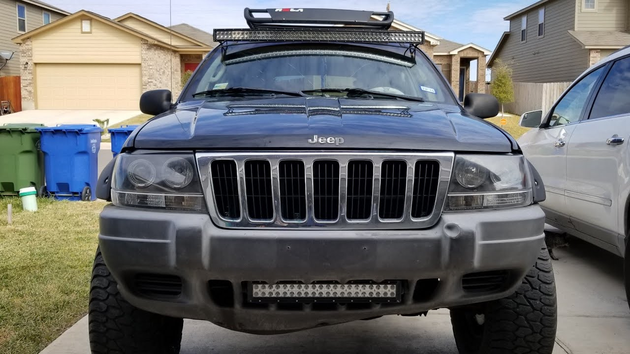installing light bar with custom brackets on 2002 jeep grand cherokee youtube installing light bar with custom brackets on 2002 jeep grand cherokee