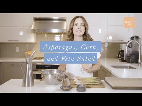 Asparagus, Corn, and Feta Salad Recipe