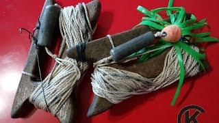 Ручная снасть для ловли сома с квоком (урез)