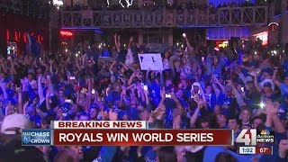 Celebrations around KC when the Royals won the World Series