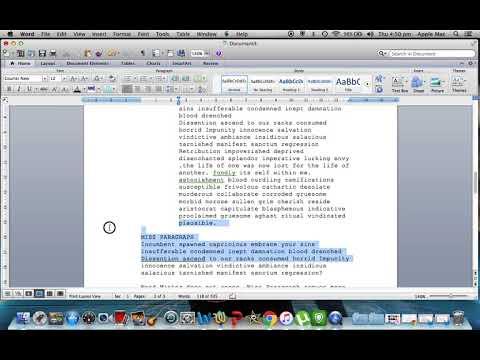 Microsoft Word Screenplay Formatting Tips