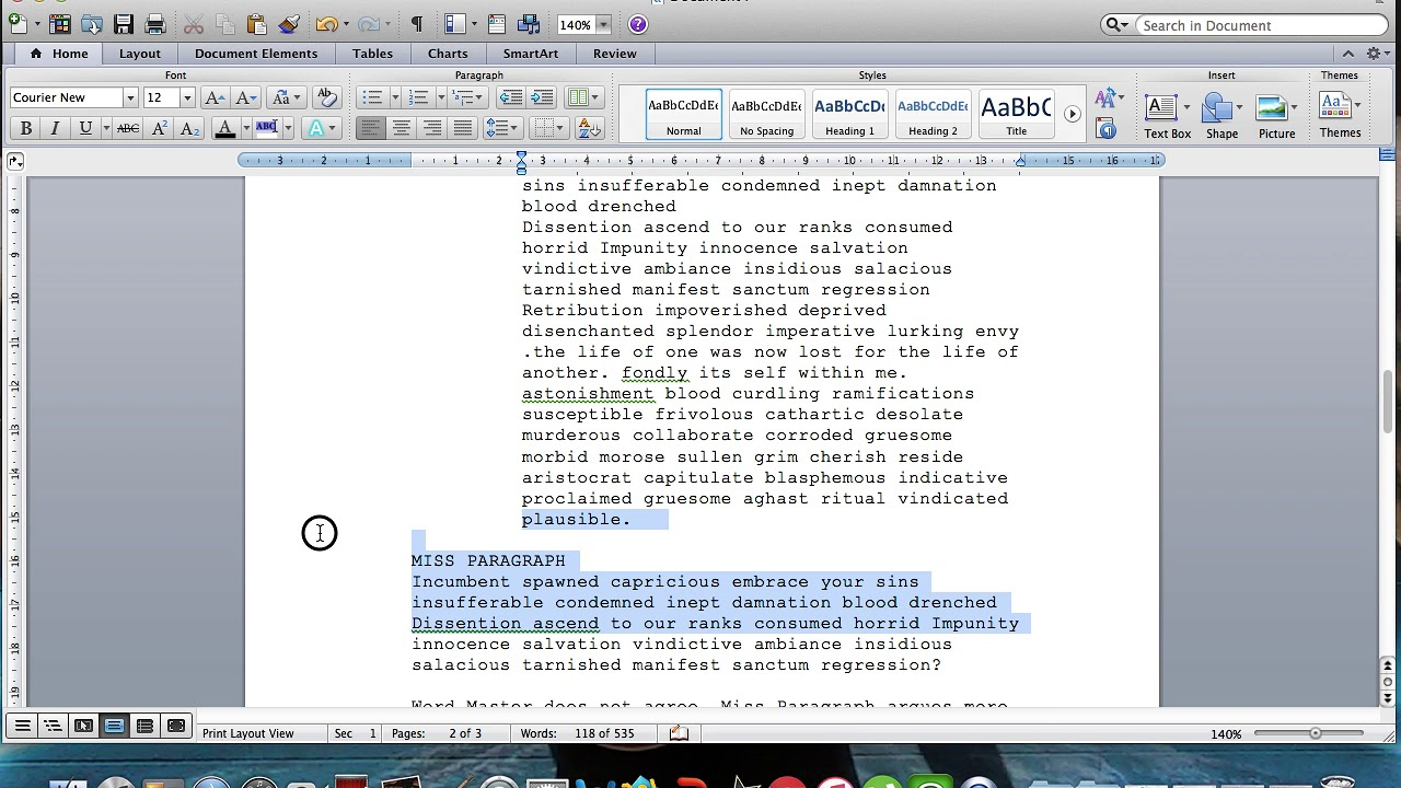 Microsoft Word Screenplay Formatting Tips Youtube