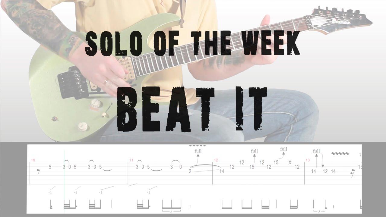 Solo Of The Week: 10 Eddie Van Halen - Beat It tab - YouTube