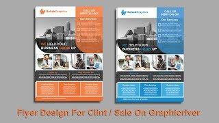 Flyer Design In Photoshop CC 2019 - Hindi/urdu Tutorial Part 01
