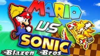 Mario Vs Sonic | Bash [Sprite Animation] | Blazen Bros