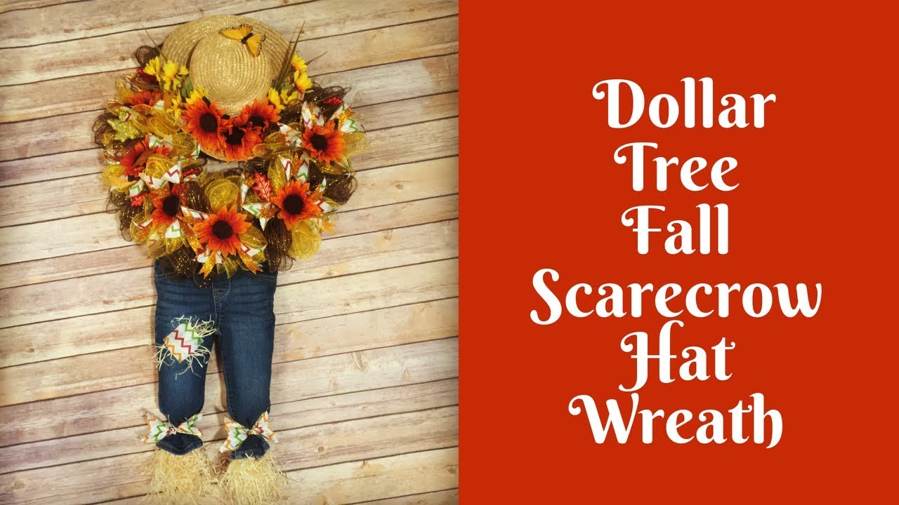 Fall Crafts: Scarecrow Hat Wreath - YouTube