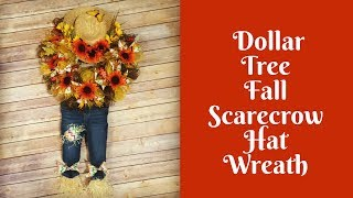 Fall Crafts: Scarecrow Hat Wreath