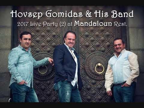 Hovsep Gomidas & His Band 2017 Live Party (2) at Mandaloun Rest.
