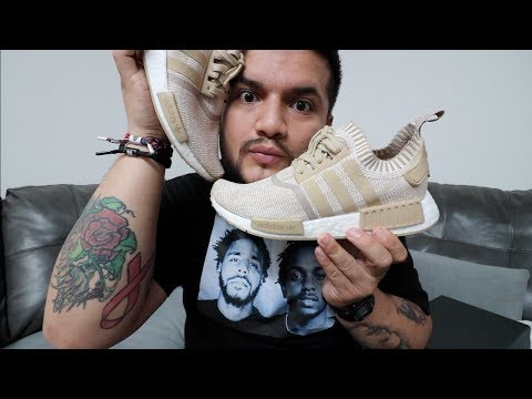 56193e0af ADIDAS NMD PK LINEN KHAKI REVIEW   ON FEET + OXFORD TAN WANNA-BE S ...