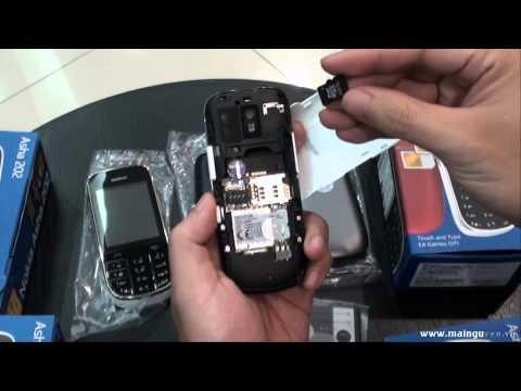 Khui hộp Nokia Asha 202 hai sim hai sóng - www.mainguyen.vn